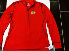 Chicago Blackhawks NHL Branded 1/2 Zip Pullover NWT Authentic Athletic Fit XL