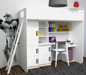 Etagenbett Hochbett Brownlee Kindermöbel Schrank Schreibtisch Kinderzimmer NEU