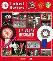 Manchester United v Leeds United  20/12/20 PREMIER LEAGUE Programme LAST FEW!!!