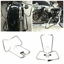 Chrome Saddlebag Bracket Set For 97-08 Harley Electra Glide Road King FLHT FLHR