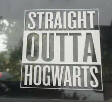 Straight Outta Hogwarts Compton Style Sticker Decal Harry Potter