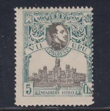 ESPAÑA (1920) NUEVO CON FIJASELLOS MLH SPAIN -EDIFIL 299 (5 cts) UPU - LOTE 1