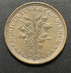 Canada (Montreal) 1838 Bouquet Sou Token : Breton #682