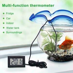 New Digital LCD Fish Tank Aquarium Marine Water Thermometer US Temperature A5H4