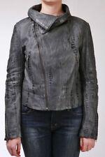 Manteaux et vestes gris en cuir pour femme taille 40
