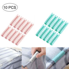10pcs ABS Clip Snap Clamp Bed Sheet Clips Sofa Fastener Gripper Holder Accessory