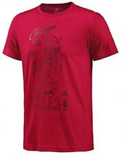 Adidas Mens CHICAGO BULLS WASHED RED TEE Tshirt Top G89073 Crew Neck SMALL NEW