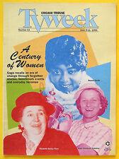 Bessie Smith A CENTURY OF WOMEN Chicago Tribune TV Week guide Jun 5 1994