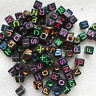 200 - 1000 Alphabet Letter Cube Beads Mixed for Loom Band Bracelets - UK Seller