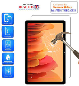 For Samsung Galaxy Tab A7 10.4 2020 Screen Protector HD Tempered Glass T500/T505