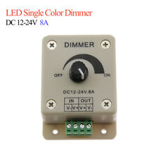 LED Strip Dimmer Adjustable Brightness Remote Controller DC12V 24V Lights Lamps