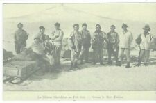 1900s Antarctica Shackleton at South Pole in front of Mt Erebus, French card
