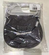 ~NEW! Marc Jacobs Quilted Mini Nylon Messenger Crossbody Bag Shadey Grey Purse