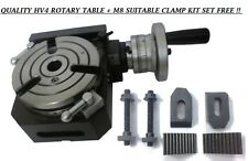 HV4 - 110 MM HORIZONTAL VERTICAL ROTARY TABLE + M8 Clamp Kit Free !!