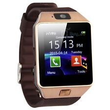 stainless steel band smart watches dz09 bluetooth smart watch phone camera sim card for android ios phones