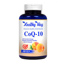 CoQ10 - 200mg Max Strength - 200 Capsules - Pure Coenzyme Q10 NON GMO  FREE SHIP