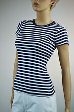 Ralph Lauren Nautical Navy & White Stripe Top Knit Shirt Medium NWT