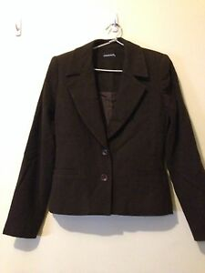 Inroads Suits In Chocolate Brown Jacket And Long Skirt Size 8, Pre Owned