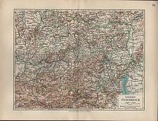 Landkarte map 1912: NIEDER-ÖSTERREICH. Maßstab: 1 : 850 000