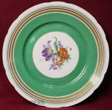F & B BARONET china MULTICOLOR FLORAL center GREEN BAND pattern SERVICE PLATE