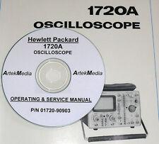 Hp 1720A Oscilloscope Operating & Service Manual