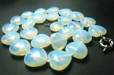 "Wholesale 18mm opal heart shape necklace 18 ""SP-5204"