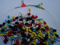 250 SEA FISHING CRIMPS IN 5 COLOURS NO NEED FOR BEADS