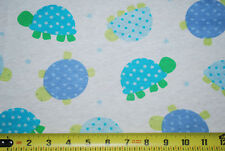 100% Cotton knit jersey fabric Cute colorful Turtles stars hearts and polka dots