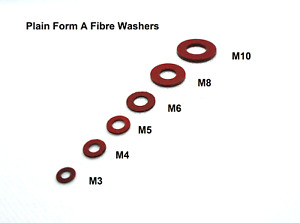 Fibre Washers Form A Plain / Flat M3 M4 M5 M6 M8 M10 M12 Excellent alternative