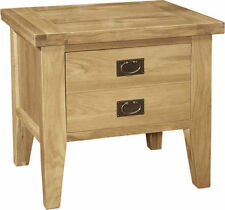 Oak Rectangle Traditional Side & End Tables with Drawers