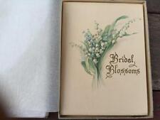 Art Deco era Bridal Blossoms Wedding Poetry Poems Book Gibson w Orig Box