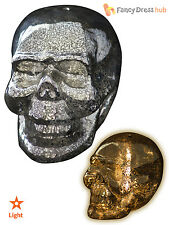 Gisela Graham Glass Metallic Light Up Skull Prop Halloween Home Decoration Party