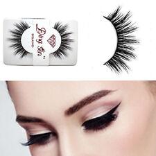 100% Real Mink Soft Long Natural Thick Makeup Eye Lashes False Eyelashes New