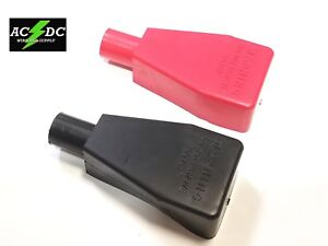 Top Post Battery Terminal FLEXIBLE PVC Boot Cover 2pk Red / Black 2 AWG