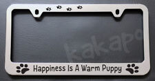 Happiness Is A Warm Puppy The Peanuts Chrome License Plate Frame