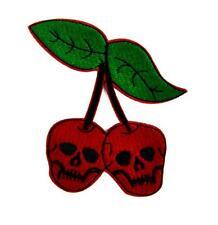 Skull Cherries Patch Iron on Applique Alternative Clothing Virgin Death