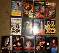 LOT OF 13 HOUSE DISCO DANCE CASSETTE TAPES GLORIA ESTEFAN FLASHDANCE PURE DISCO!