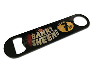 BARRY SHEENE DIGITALLY PRINTED STAINLESS STEEL BOTTLE OPENER. MAN CAVE / BEER