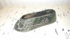 Antique Green Marble Carved Shoe Figure, 5-1/2""