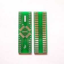 5 PCS QFP 44 Pin Pitch 0.8 mm to DIP 44 2.54 mm Adapter PCB Board Converter T Fs