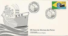 Brasil Brazil 1988 180 años/años da promoview dos Portos cubierta de la nave IED FDC