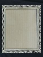 Mid Century Modern Vintage Metal Ornate Mesh Gold Picture Frame