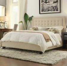 Upholstered Tufted Bed - King NEW!