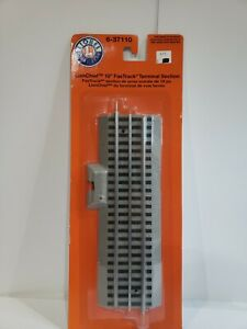 """O GAUGE LIONEL 6-37110 FASTRACK LIONCHIEF 10"""" TERMINAL SECTION"""
