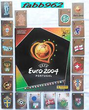 PANINI Uefa Euro 2004 Empty Album + 1 Complete Set 334 + Rookie Ronaldo + 5 rare