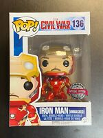 FUNKO POP MARVEL CIVIL WAR IRON MAN UNMASKED 136 SPECIAL EDITION EXCLUSIVE