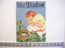 Wee Wisdom Children's magazine - vintage April 1953 with uncut paper doll