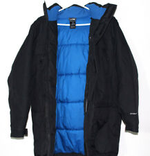 Rare The North Face Hyvent Black Blue Gray Fur Hood Coat Down Jacket Size 18/20