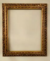 VINTAGE  GOLD GILT ORNATE WOOD AND GESSO FRAME 20x16 inches 24.5x20.5 inches