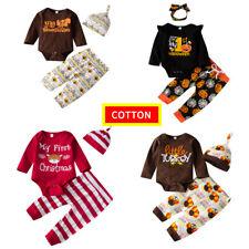 Newborn Baby Girl Boy Christmas Romper Halloween Clothes Jumpsuit Xmas Bodysuit